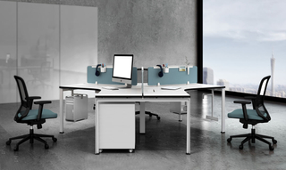 Angepasste Open Office Table Workstation mit Partition (HC-Carter)