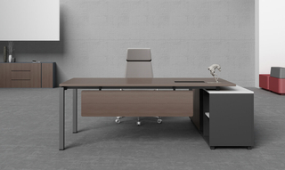 Executive Office Table Design aus Melaminplatte aus Holz (HC-75)