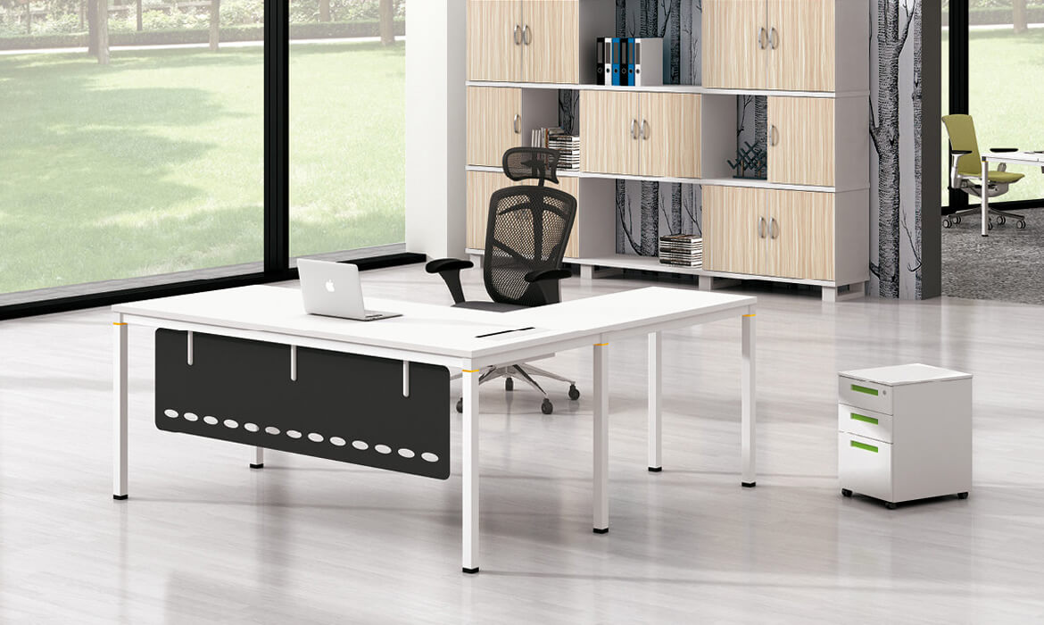 CEO Teakholz Bürotisch Executive Desk L-Form (HC-97A)