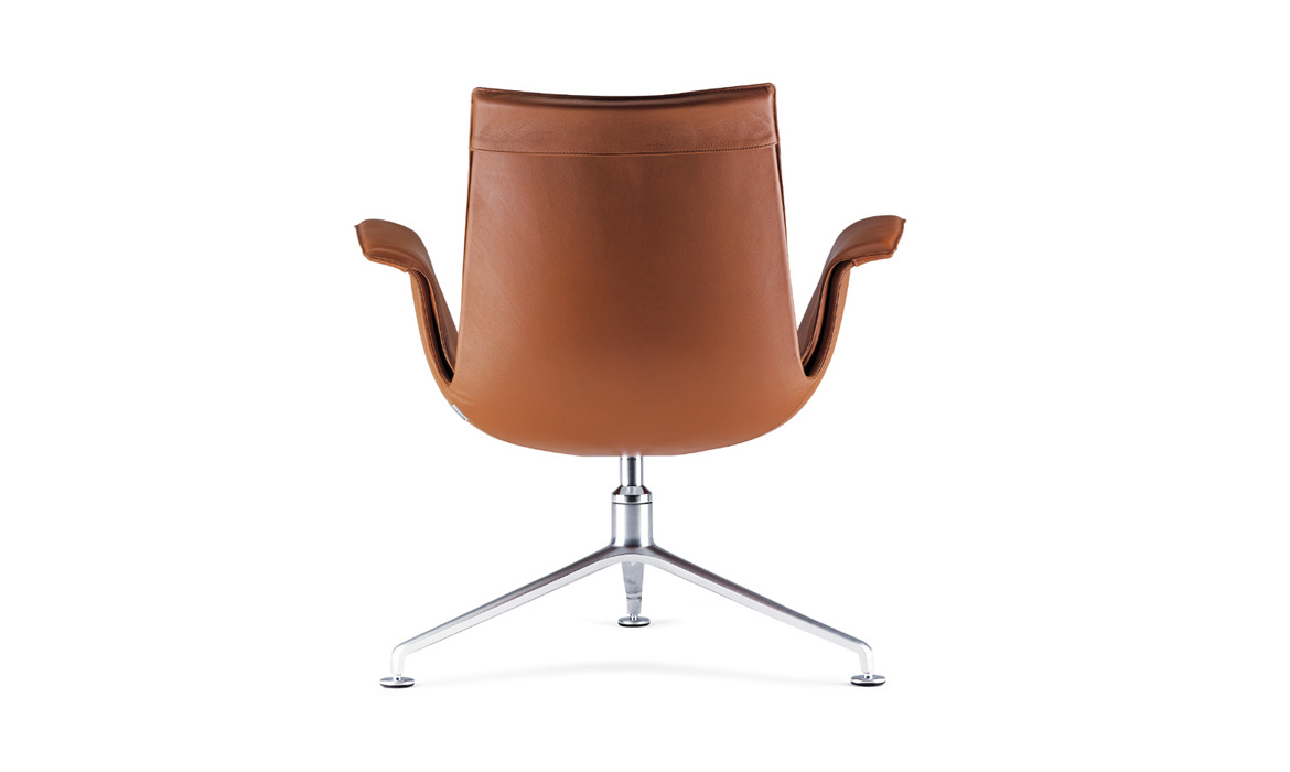 Orange Swivel Manager Leder Freizeitstuhl (Swan)